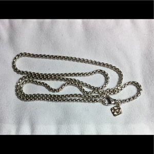 David yurman 2.7mm sterling and 14k gold chain 24""
